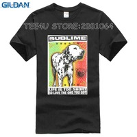 Tee4U Crazy T Shirts Sublime Lou Dog O Neck Men Short Comfort Soft Shirt