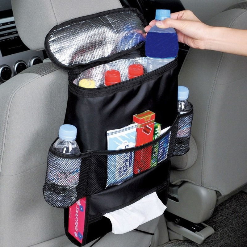 Car Organizer Interior Accessories Stowing Tidying Insulation Bag Storage Seat Back Hanging Car Pocket Travel Storage Holder