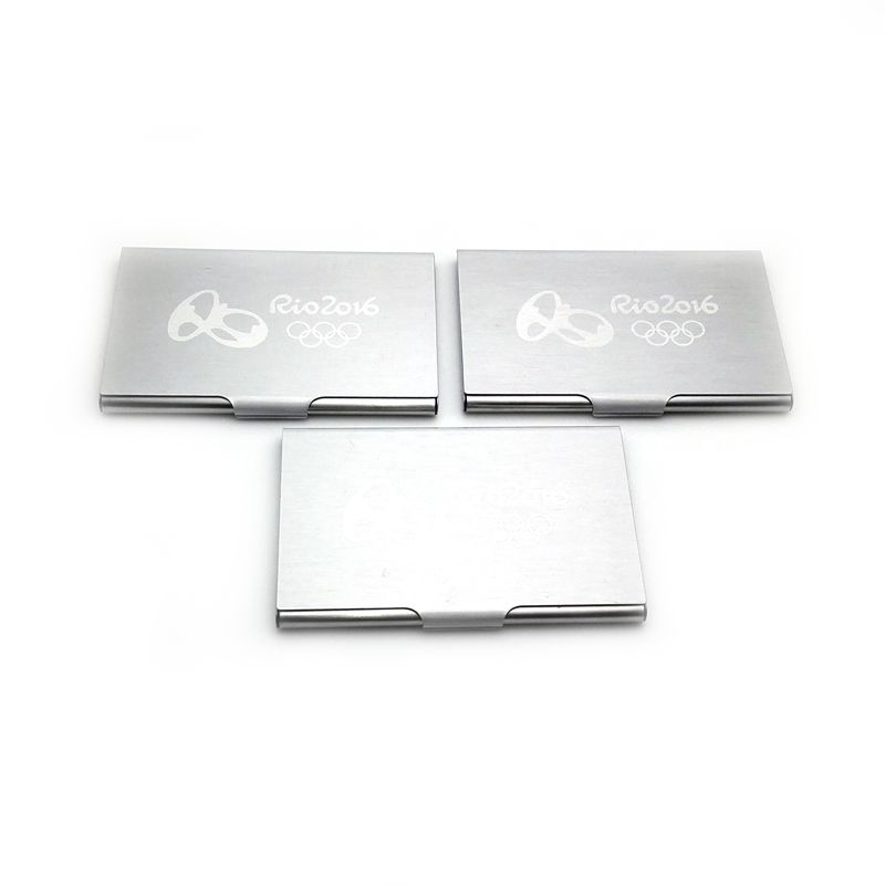 Old Fashioned Personalized Business Card Holder With Logo Motif ...