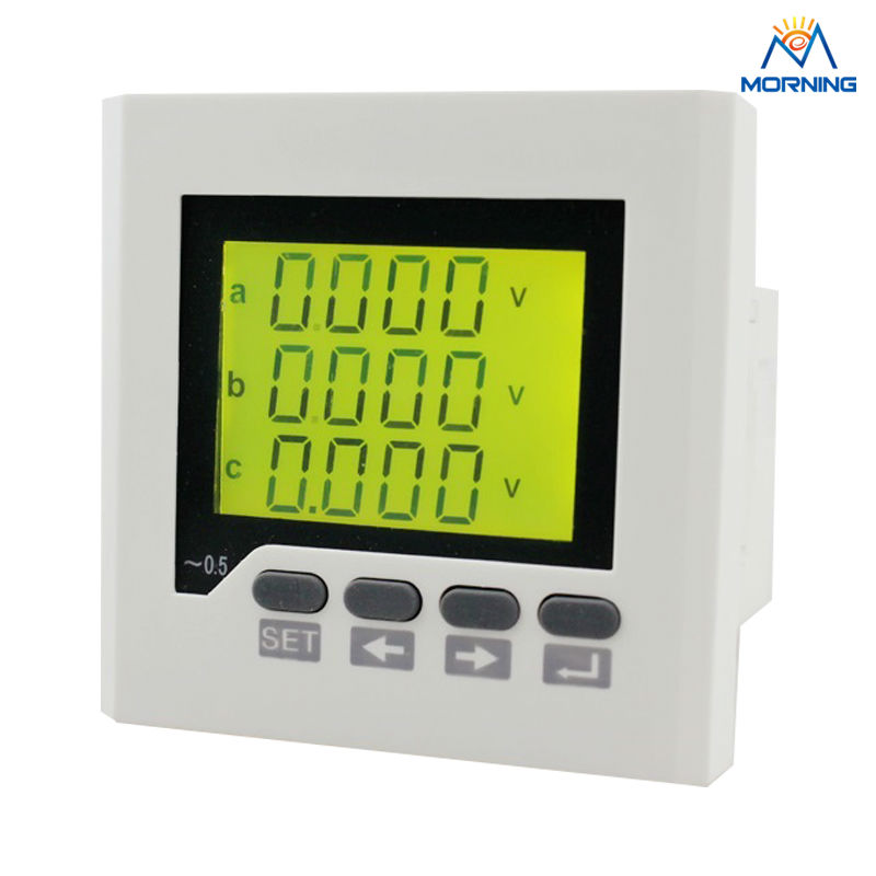 3HD7Y frame size 80*80 factory price industrial type and LCD digital 3-phase multifunction meter, can add harmonic measurement d2y panel size 120 120 low price and high quality lcd single phase digital multifunction meter for distribution box