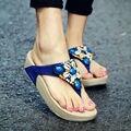 Verano 2017 las sandalias de gladiador zapatos de mujer Bohemia zapatos planos sandalias mujer zapatos de las señoras nueva chanclas E001W