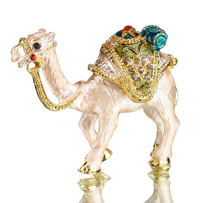 Шкатулка для украшений H & D Bejeweled Camel, ручная роспись, коллекционные фигурки, Подарочный декор, шкатулка для хранения украшений с кристаллами
