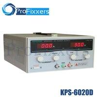 KPS6020D высокая точность, высокая мощность регулируемый светодиодный двойной дисплей Импульсный источник питания 220 В ЕС 60 В/20A