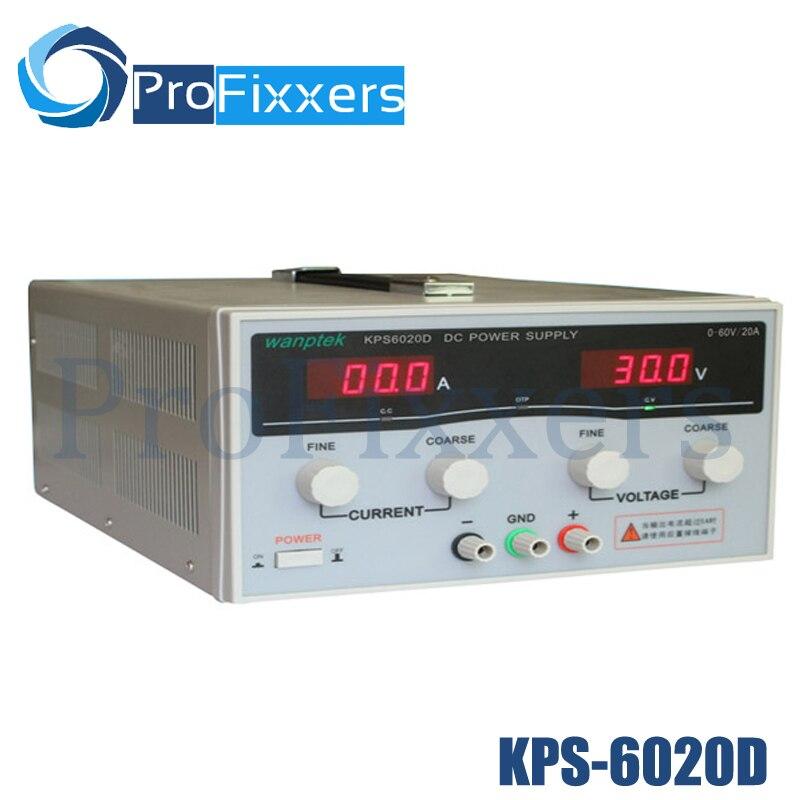 KPS6020D haute précision haute puissance réglable LED double affichage commutation DC alimentation 220 V EU 60 V/20A