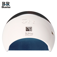 BLUERISE LED UV Lamp Nail Dryer Smart SUN6S 48W Metal Bottom LCD Timer Multicolor For Curing