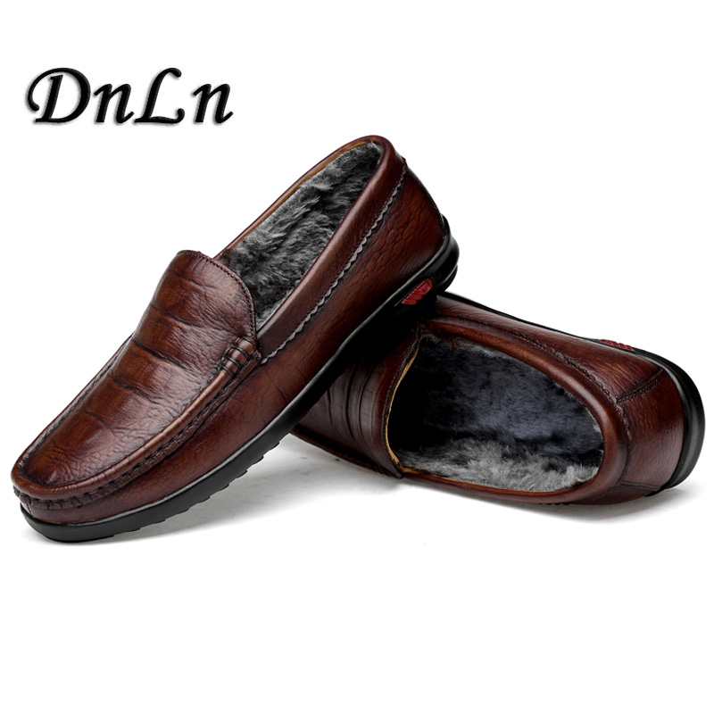 Fashion Winter Warm Soft Moccasins Men Loafers High Quality Cowhide Leather Shoes Men Flats Gommino Driving Shoes D30 2017 new brand breathable men s casual car driving shoes men loafers high quality genuine leather shoes soft moccasins flats