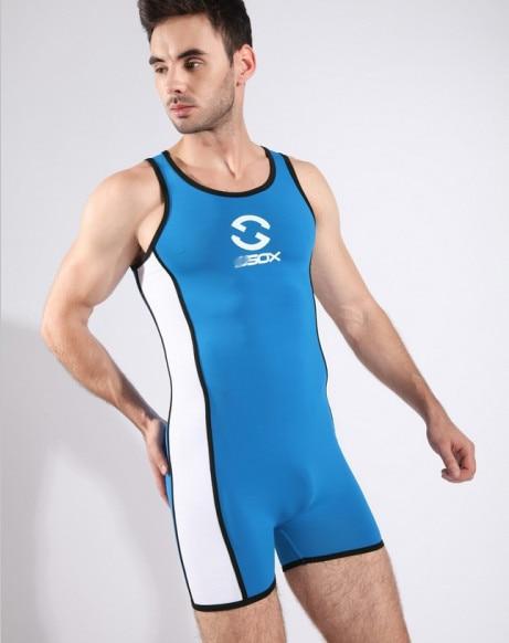 Sexy Comfy Men Bodywear Singlet Unitard Undertøj Undertøj Mand Body Suit Bodysuit Wrestling Leotard Board Beach Badetøj