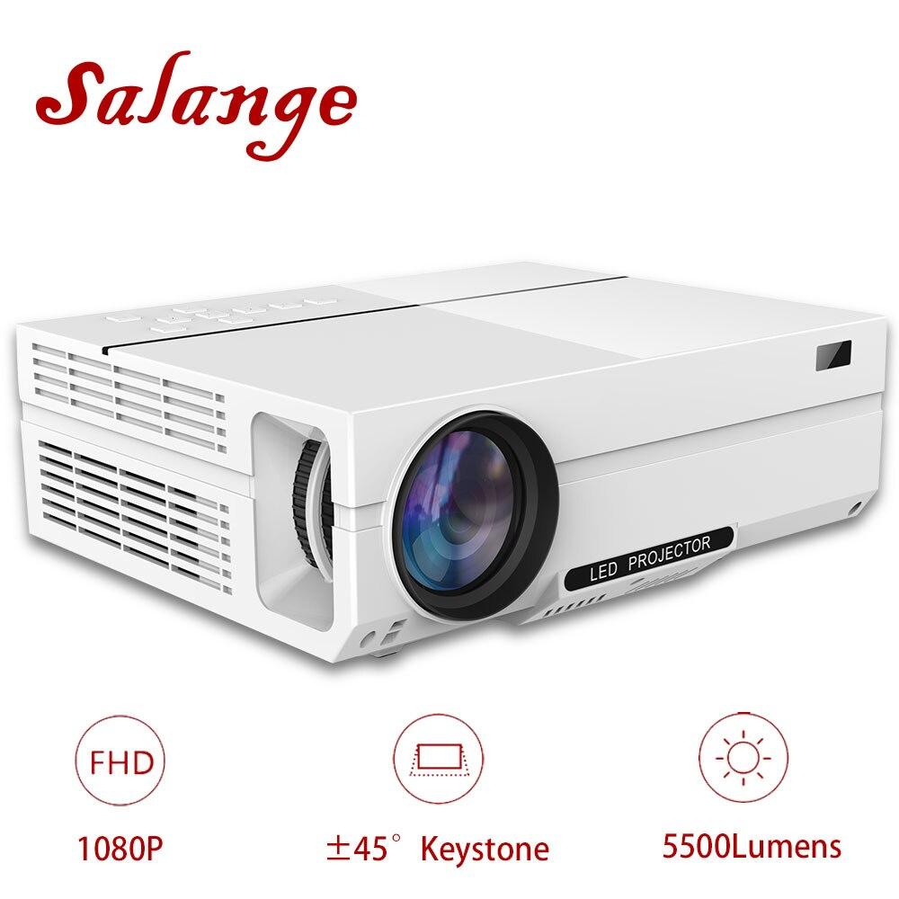Salange T26K Proiettore Full HD, 5500 Lumen HA CONDOTTO il Proiettore, Home Theater, HDMI VGA USB, 1080 p Film Beamer Opzione T26 Proyector