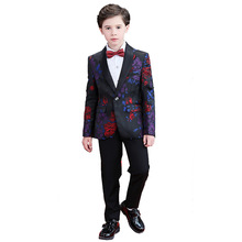 цена Kids Blazers Boy Suit For Weddings Formal Dress Boy Costume Enfant Garcon Mariage Jogging Blazer Boys Tuxedo H457 онлайн в 2017 году
