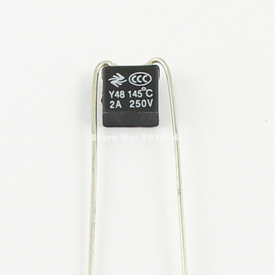 100PCS  RH 115℃  239℉ Thermal Fuse 2A 250V