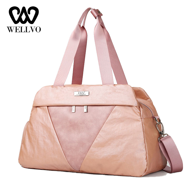 Fashion Travel Bag Hand Luggage Large Weekend Bags With Shoe Compartment Ladies Carry On Travel Duffle Bags For Women XA779WB