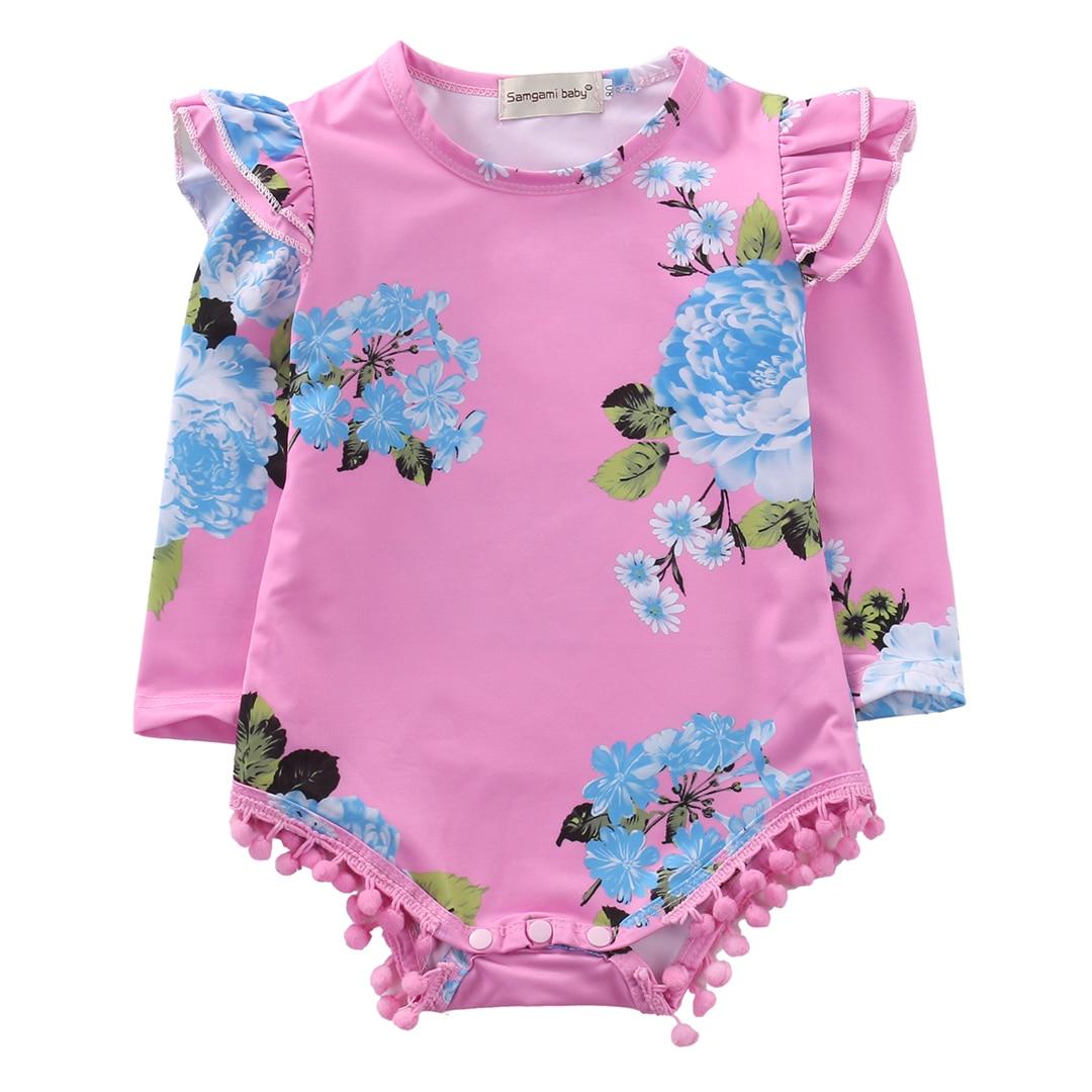 இNiños recién nacidos niña bebé floral de manga larga vestido del ...