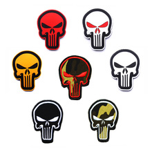 Special Force Sniper Punisher patches 3D Skull PVC Patch Badge