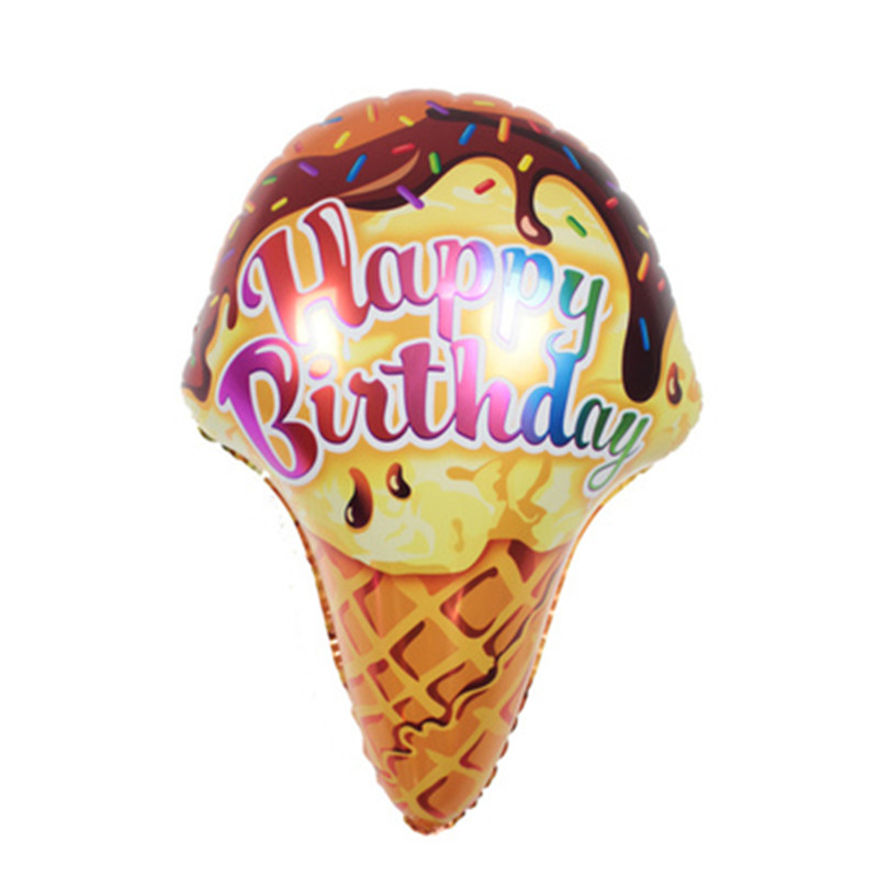 Wholesale 6pcs/lot Icecream Foil Balloons Happy Birthday Party Decorations Adult Children Birthday Balloon Suppliers