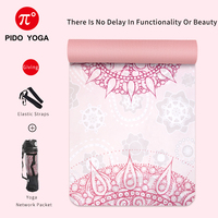 PIDO YOGA Yoga Mat 7mm Thick And Long Printed Suede + TPE Fitness Mat Gym Non-Slip Dance Mat 3