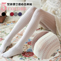 Autumn New Velvet Hollow Love Heart Women Tights Sweet Vintage Bottoming Pantyhose Soft Comfortable Stockings