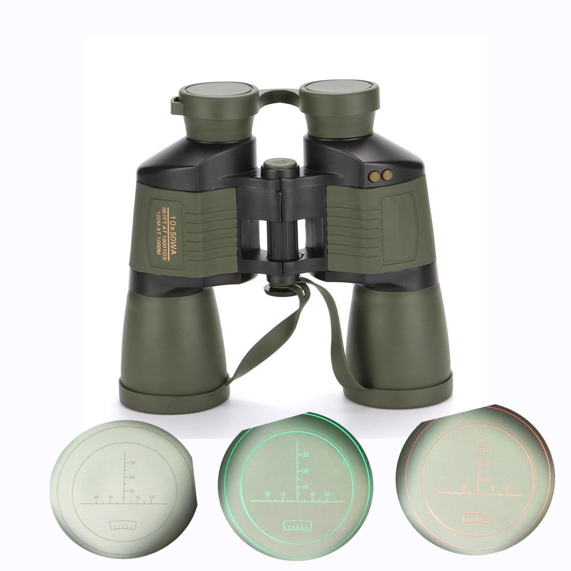 HD Brand 10X50 Auto focus waterproof rangefinder binoculars telescope hunting tourism optical outdoor sports eyepiece binoculars