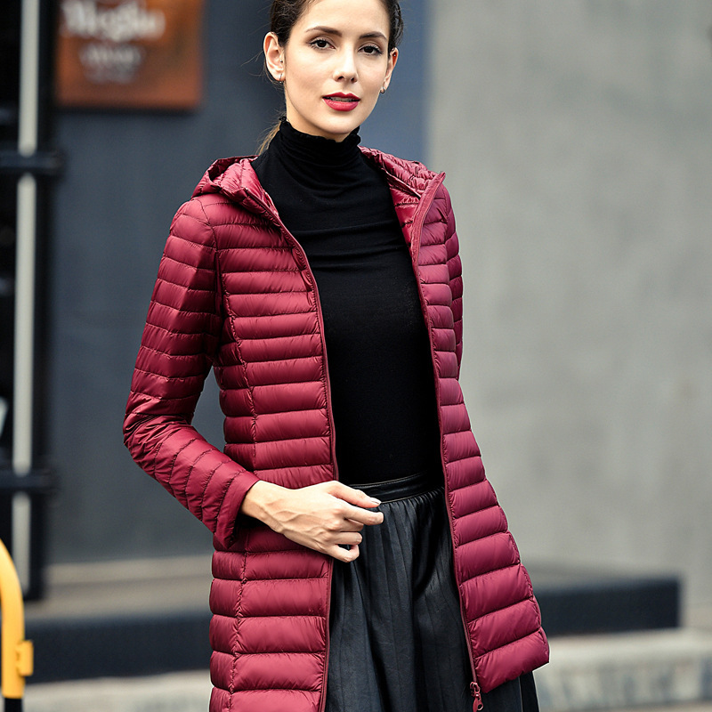 Long Ultra Light 80% White Duck   Down   Jacket Women Winter   Coat   Thin Female Winter Slim long Warm Jacket Windproof   Down     Coat   4XL