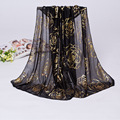 Chiffon silk scarf 2016 scarf female summer autumn all-match scarf long design air conditioning cape silk scarves shawl J042