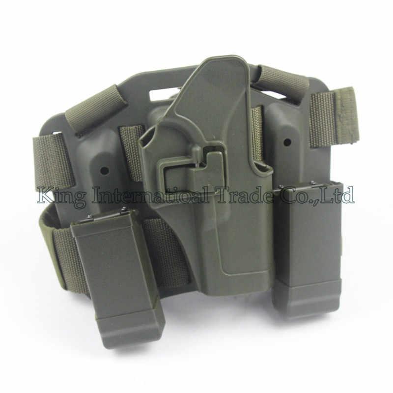 Tactical Đùi Holster CQC Nhỏ Gọn RH Drop Leg Holster GL 17, 19, 22, 23, 31, và 32 OD XANH