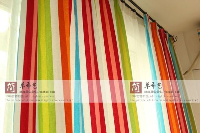 De nieuwe kleur streep katoenen canvas gordijnen, tafelkleden en ...