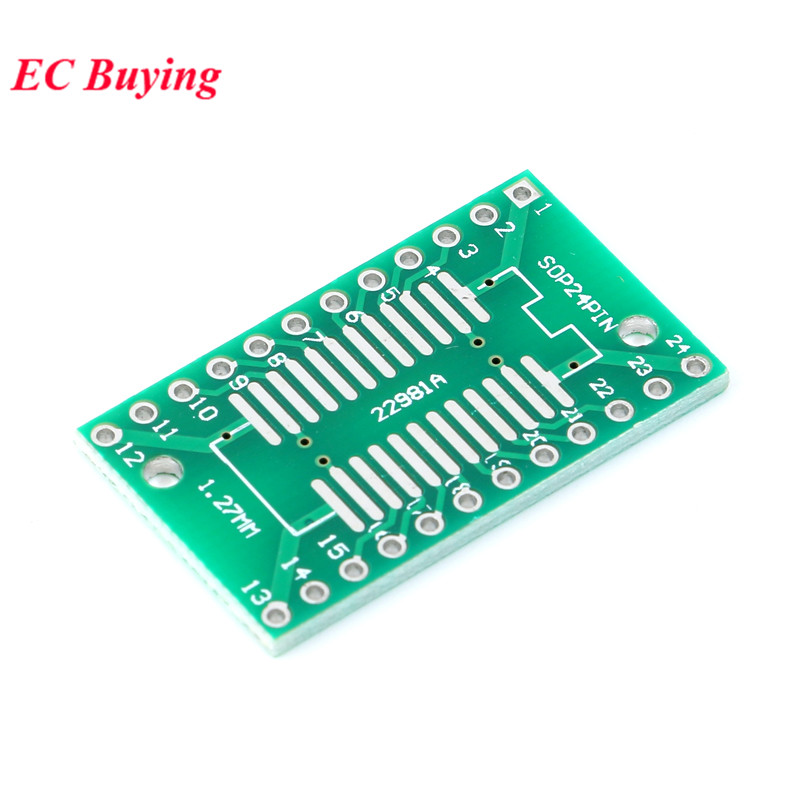Image 5 - 35pcs PCB Board Kit SMD Turn To DIP Adapter Converter Plate SOP MSOP SSOP TSSOP SOT23 8 10 14 16 20 24 28 SMT To DIP-in Integrated Circuits from Electronic Components & Supplies