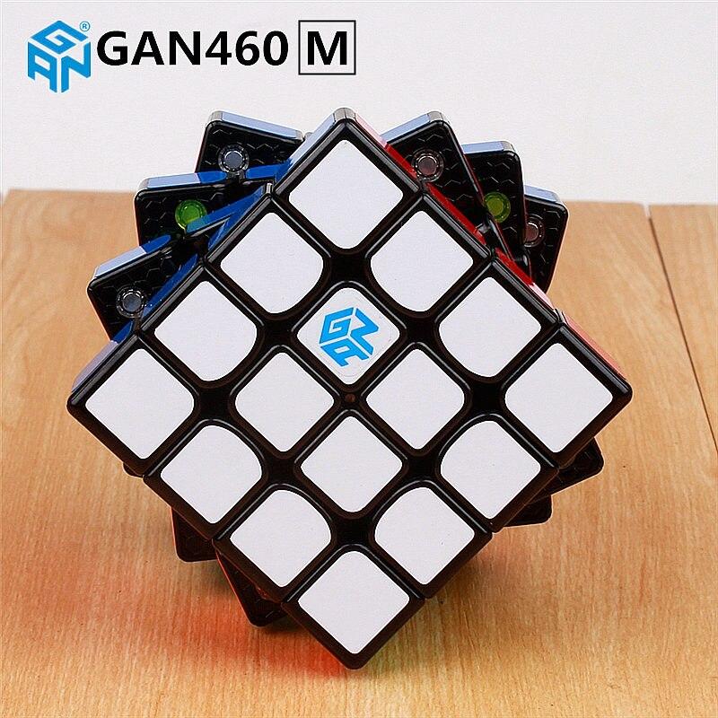 GAN460 M 4x4x4 enigma Cubo Mágico Magnético Ímãs de GAN 460 Professional 4 Camada Velocidade Cubo Magico GANS Brinquedos Para As Crianças