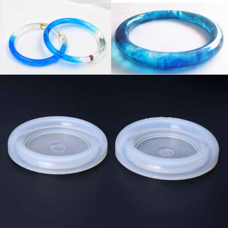 Silicone Jewelry Mold Epoxy Bracelet Bangle Resin Mold Resin Craft Jewelry Making
