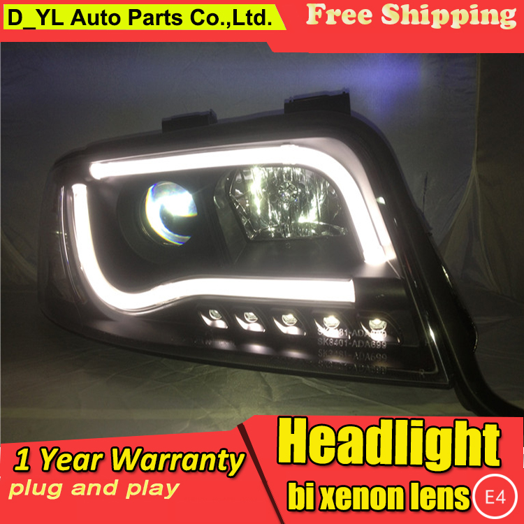 D YL Car Styling for Audi A6 Headlights 1997 2004 A6 LED Headlight DRL Bi Xenon
