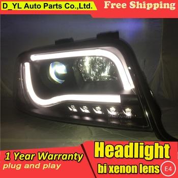 D_YL Car Styling for Audi A6 Headlights 1997-2004 A6 LED Headlight DRL Bi Xenon Lens High Low Beam Parking HID Fog Lamp
