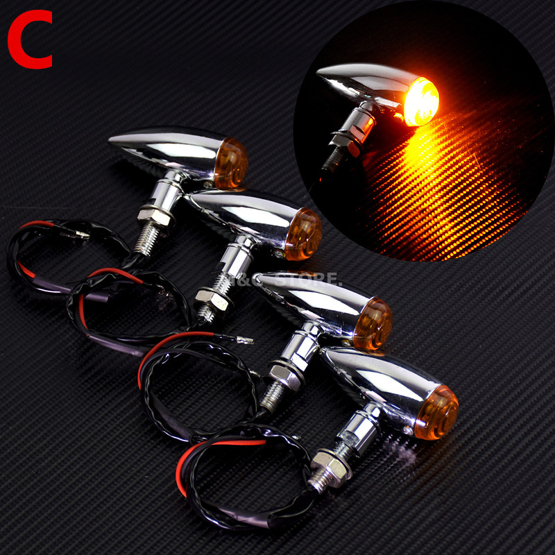 lowest price New Flashing Motorcycle LED Turn Signals Blinker For Motorcycles Indicator Flasher LED Moto Rear Brake Stop Signals Light Lamp