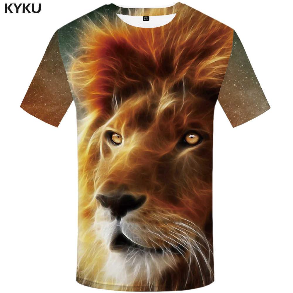 KYKU брендовая футболка с тигром черная одежда футболка с животным 3d принтом Мужская одежда футболка оверсайз хип хоп модная летняя Новинка