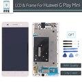 """Para huawei g play mini lcd substituição display lcd aaa painel da tela de toque digitador assembléia com frame preto branco 5 """"pantalla"""