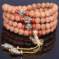 Ubeauty 6 м Непал Рудракши 108 джапа четки бабочки браслет для медитации Будда ручной Тибетских буддийских ожерелье