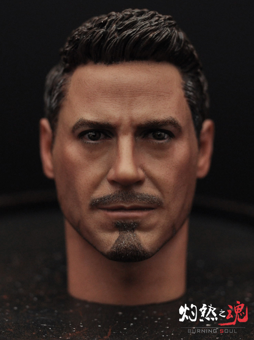 1/6th scale figure Accessory Iron Man headsculpt Tony Stark head shape for 12 Action figure doll ,Not included body and clothes 1 6 scale figure accessory batman wayne headsculpt bale head shape for 12 action figure doll not included body and clothes