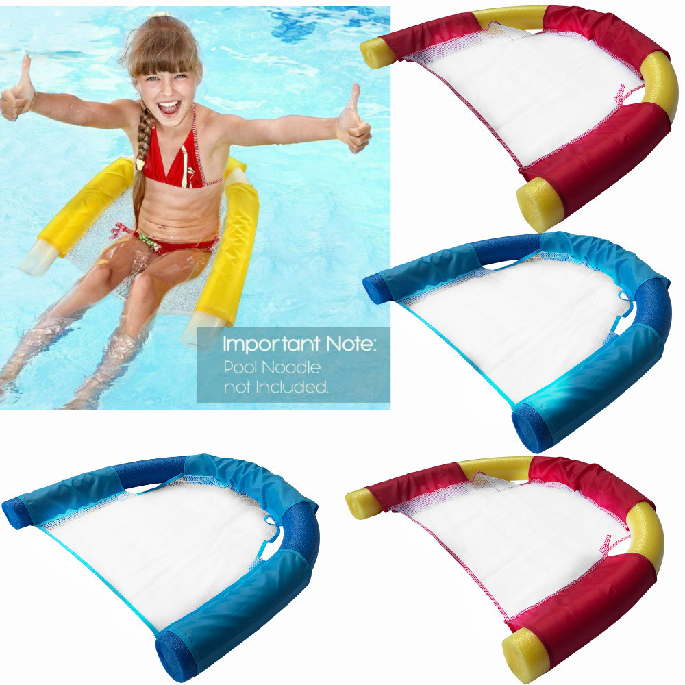 Summer Noodle Lounger Chair Floating Chair Ride-ons Water Hammock Toy For Adult Pool Rafts Swimming Inflatable Toys