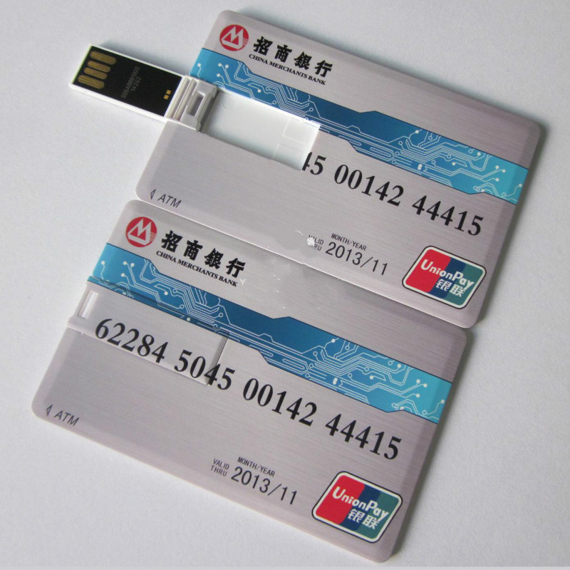 Business Gift Credit Card USB Drive 1G/2G/4G/8G/16G with customised logo printing Educational Branded Printing Photography Gift