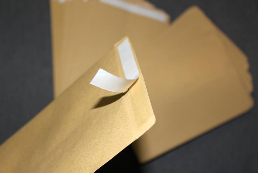 50/pack Blank Light Brown Kraft Paper Self Sealing Envelope w/Peel & Press