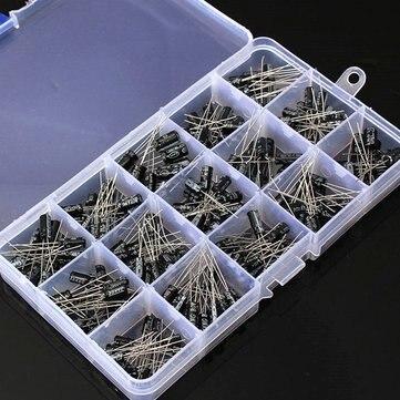 200Pcs 15 Value Electrolytic Capacitor Assortment Box Kit
