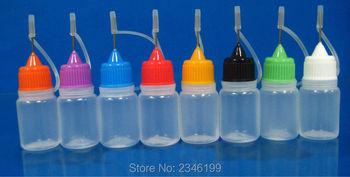 5ML 100pcs/lot Empty Needle Dropper Bottle, Plastic Needle Bottle with Screw Metal Needle Cap, Cosmetic Liquid Refillable Bottle