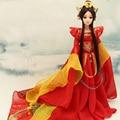 33CM Handmade Original Chinese Costume Dolls 3D Simulated Eye 12 Jointed Body Bjd 1/6 Doll Girl Doll Toys Birthday Gift