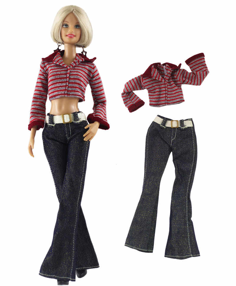 5b08e215f3b NK One Set Doll Clothing Fashionable outfits Casual Dress Suits For Barbie  Doll Best Gift Baby