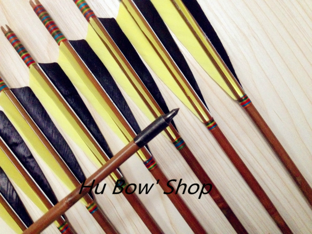 12PK are hunting archery traditional hunting bullet point Turkey feathers bamboo arrows bow free delivery12PK are hunting archery traditional hunting bullet point Turkey feathers bamboo arrows bow free delivery