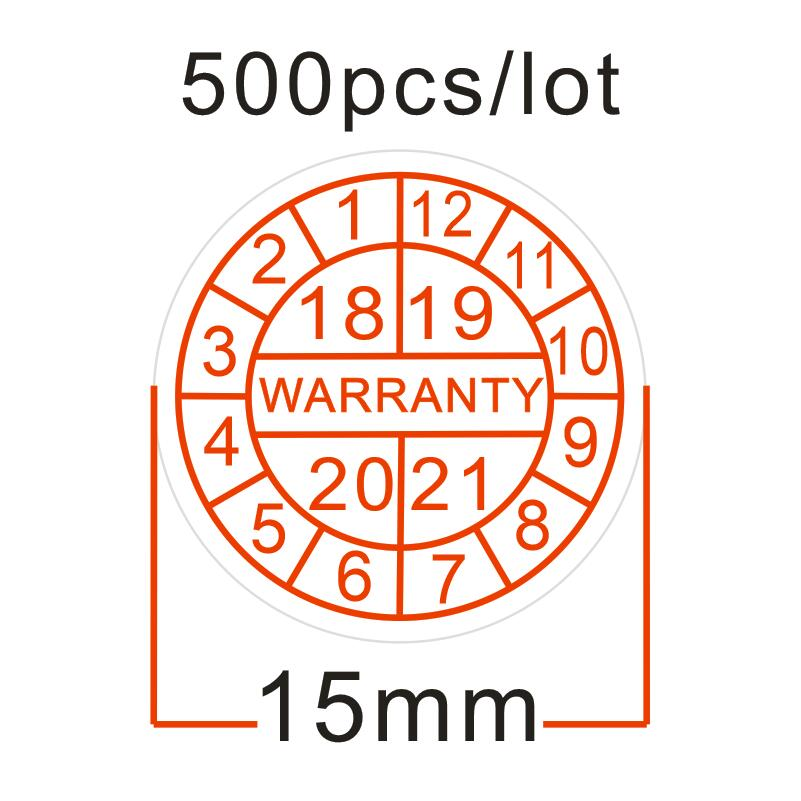 Wholesale 500pcs/lot Warranty sealing label sticker void if damaged, with years and months, Diameter for 15 mm Free shipping