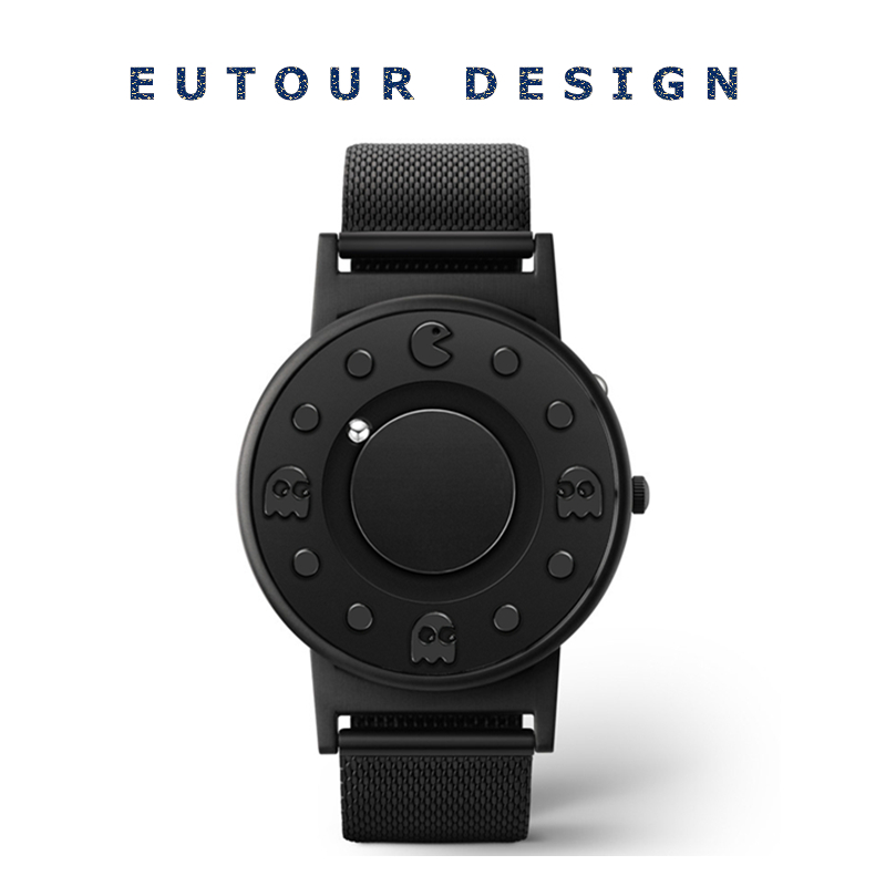 Eutour Men Luxury Top Brand Concise Innovate WristWatches Fashion Casual Sport Magnetic Stainless Steel Strap Swiss Quartz Watch