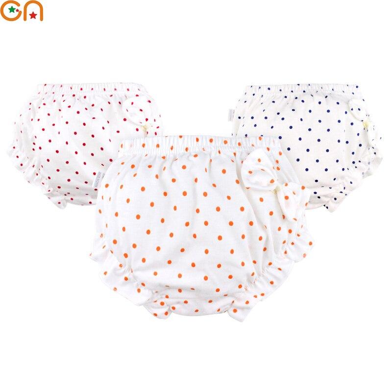 Kids Baby 100% Katoenen Ondergoed Slipje Meisje Infant Bow Dots Ruffle Shorts Underpants Voor Kinderen Pasgeborenen Kleding Gift Cn Zowel De Kwaliteit Van Vasthoudendheid Als Hardheid Hebben