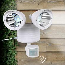 1 Set Solar Lamp  Night Lights PIR Body Sensor Double Head Dual Security Detector Nightlight Pathway Powered