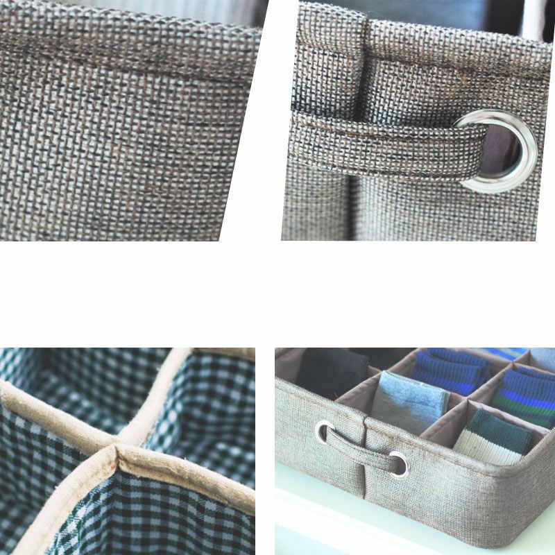 Diniwell утепленная хлопковая и бельевая корзина 9 сетка бытовой Органайзер Нижнее белье носок коробка для хранения мелочей
