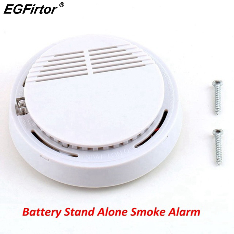 Fire Alarm Independent Battery Photoelectric Smoke Detector 85DB Sounder Stand Alone Smoke Alarm Sensor