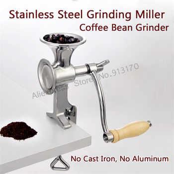 Corn Mill Grinder Stainless Steel Grinding Machine for Peanut Soybean Walnut Coffee Bean Grinding No Cast Iron No Aluminum - DISCOUNT ITEM  0% OFF All Category